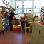Schulbibliothek ausräumen